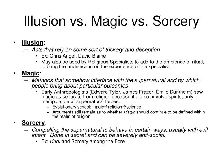 Illusion vs magic vs sorcery
