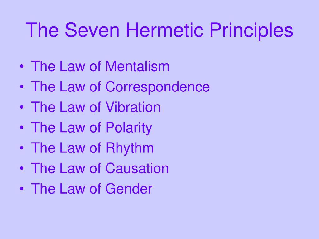 The Seven Hermetic Principles