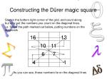 constructing the d rer magic square
