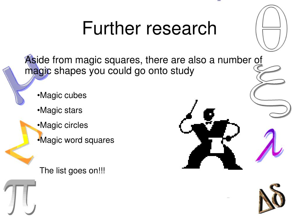 Further research