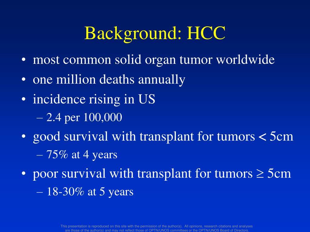 Background: HCC