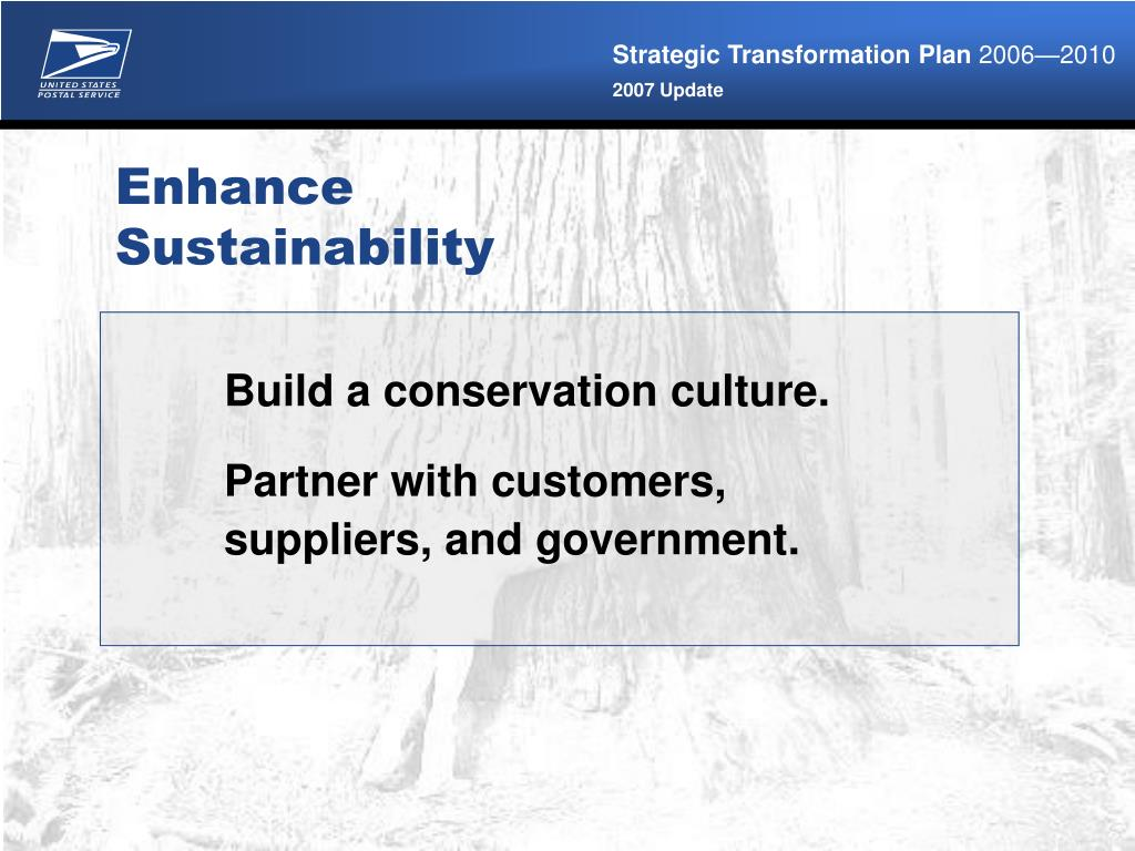 Build a conservation culture.