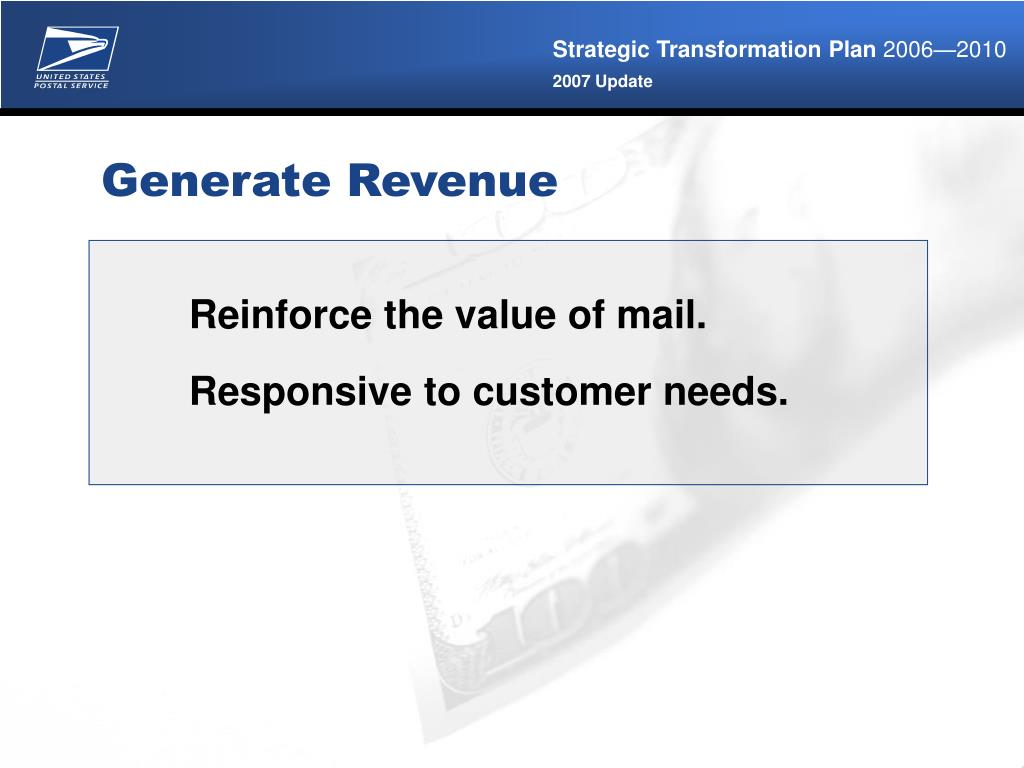 Reinforce the value of mail.
