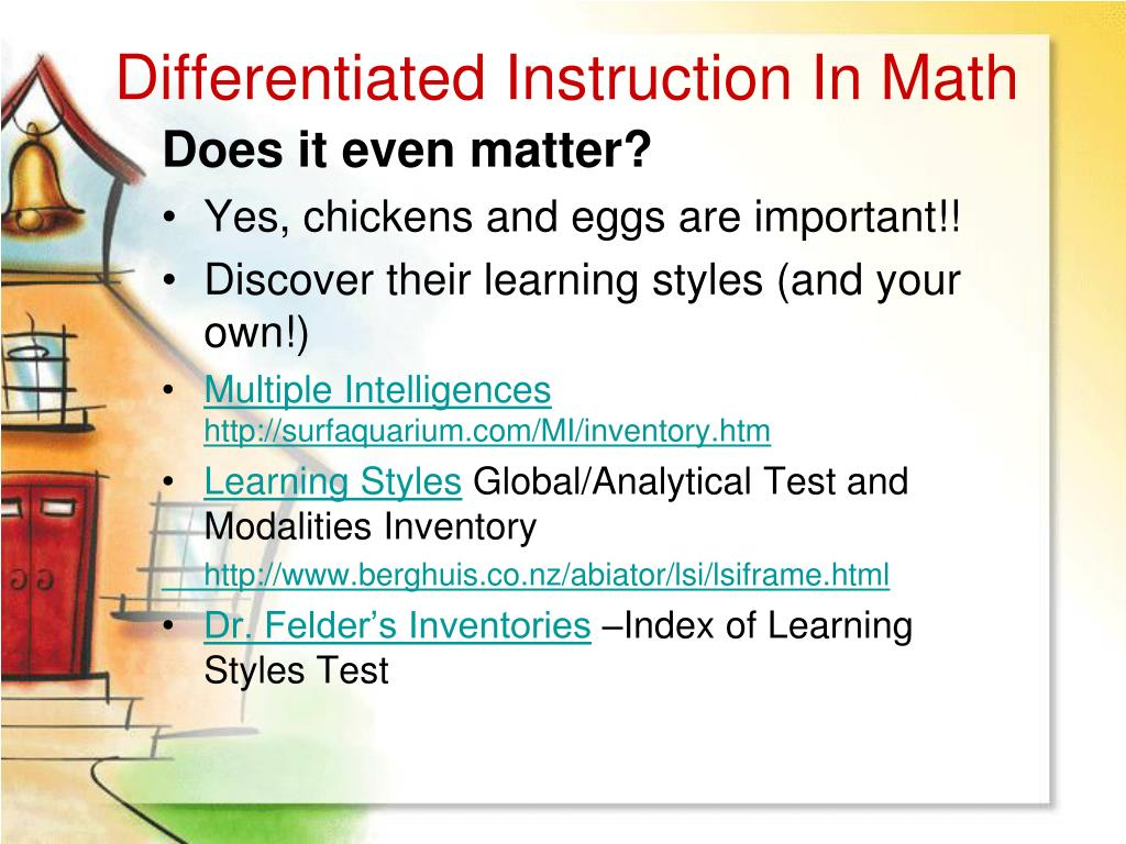 Differentiated instruction: A research basis - ERIC