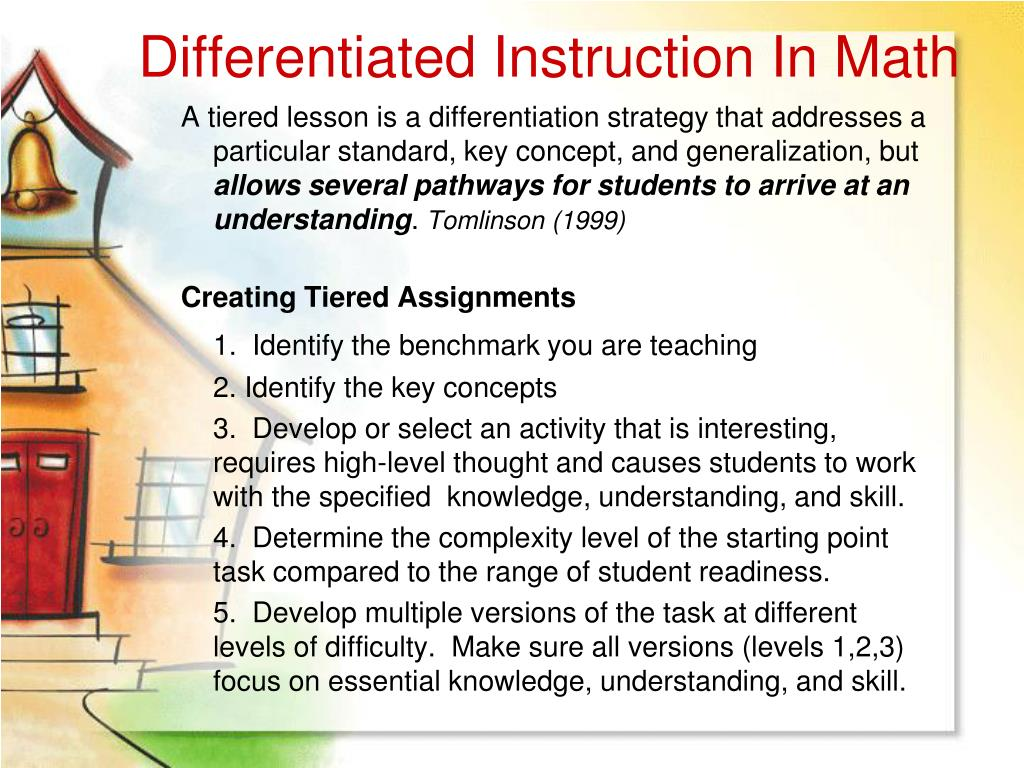 differentiated instruction in math
