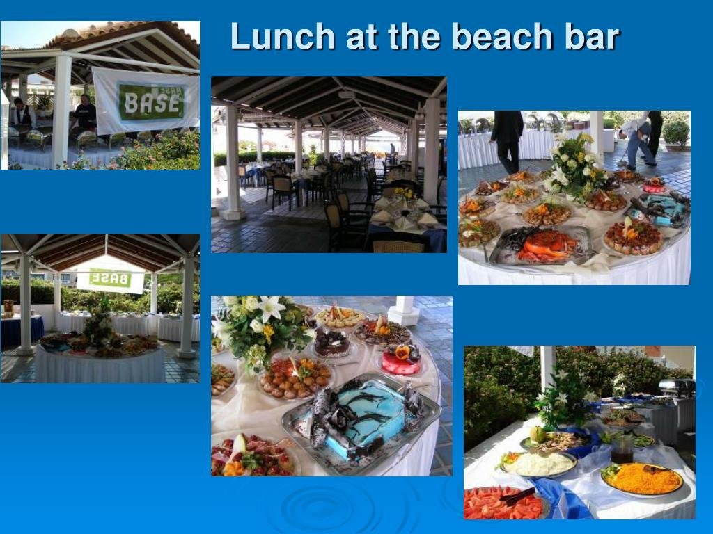 Lunch at the beach bar