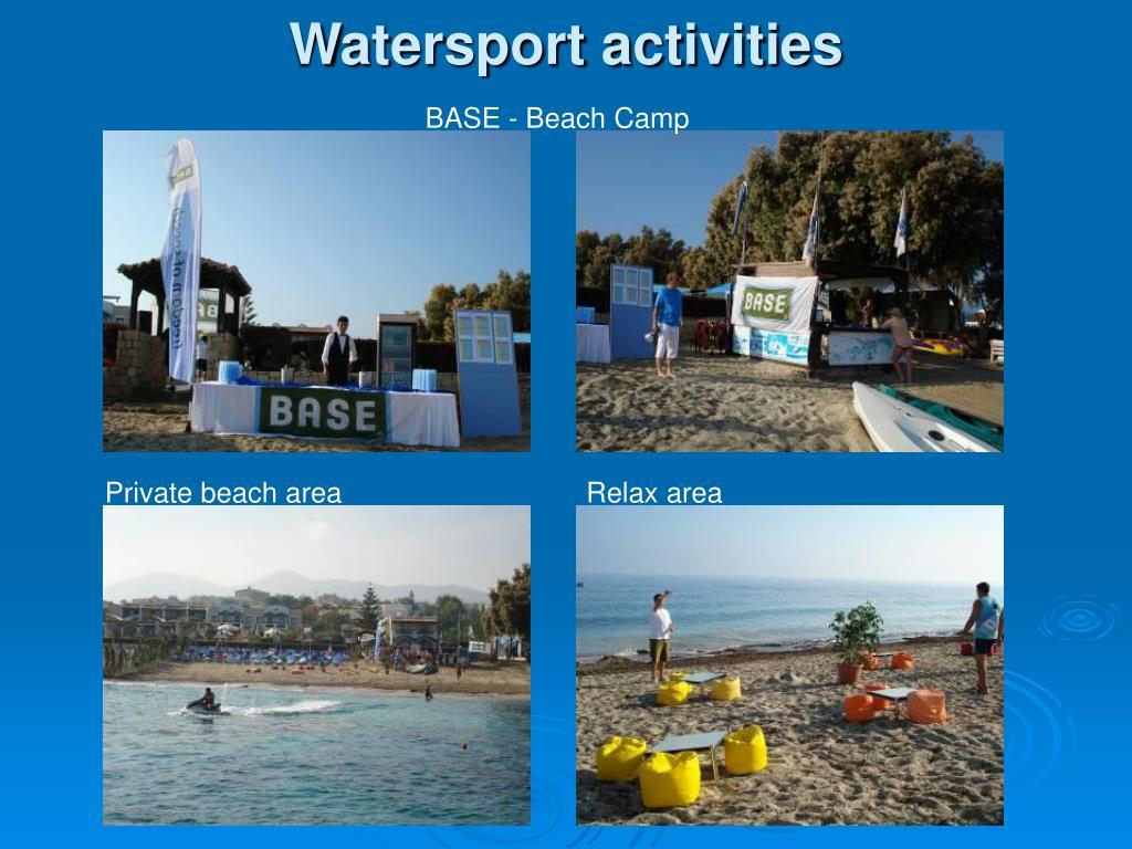 Watersport activities