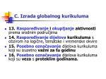c izrada globalnog kurikuluma