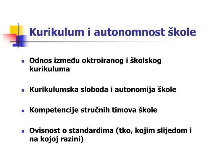 Kurikulum i autonomnost škole