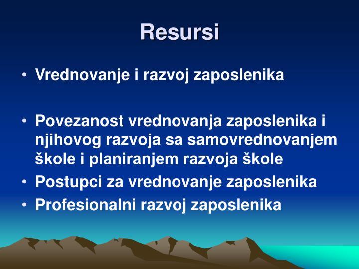 Resursi