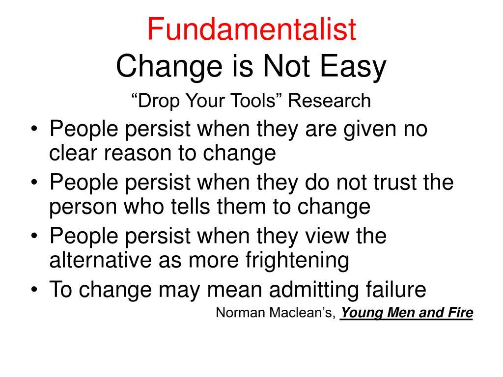 Fundamentalist