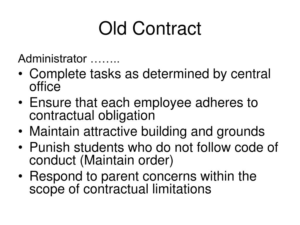 Old Contract