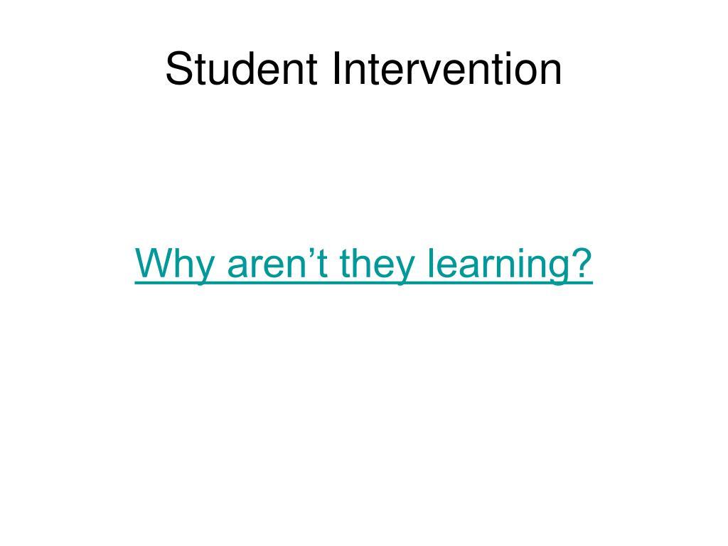 Student Intervention