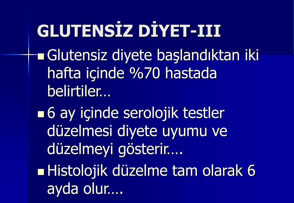 GLUTENSİZ DİYET-III