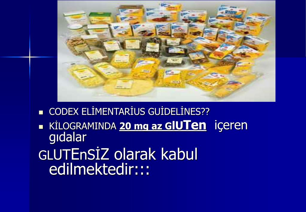 CODEX ELİMENTARİUS GUİDELİNES??