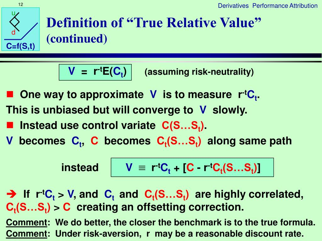 "Definition of ""True Relative Value"""