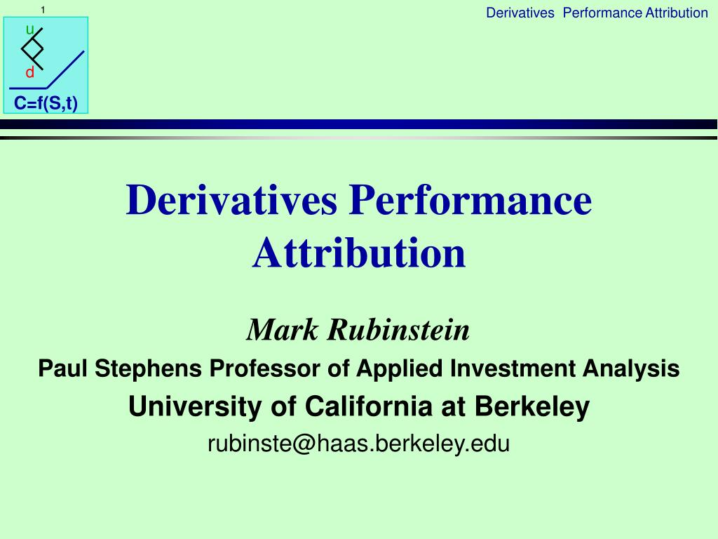 Derivatives Performance Attribution