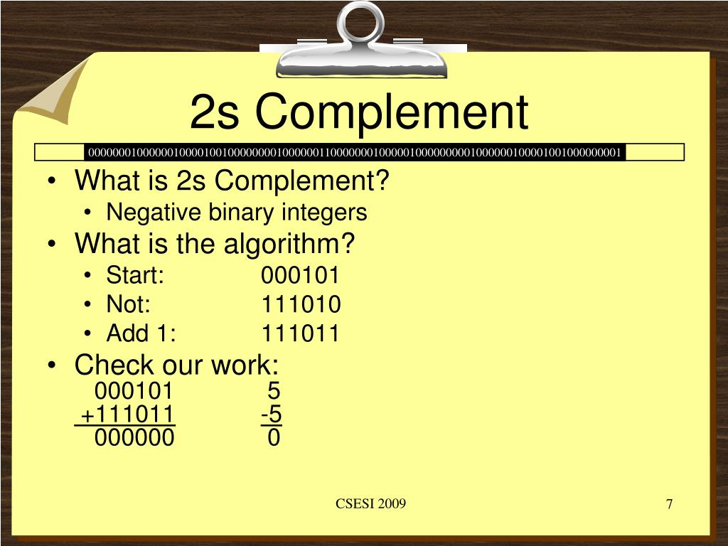 2s Complement