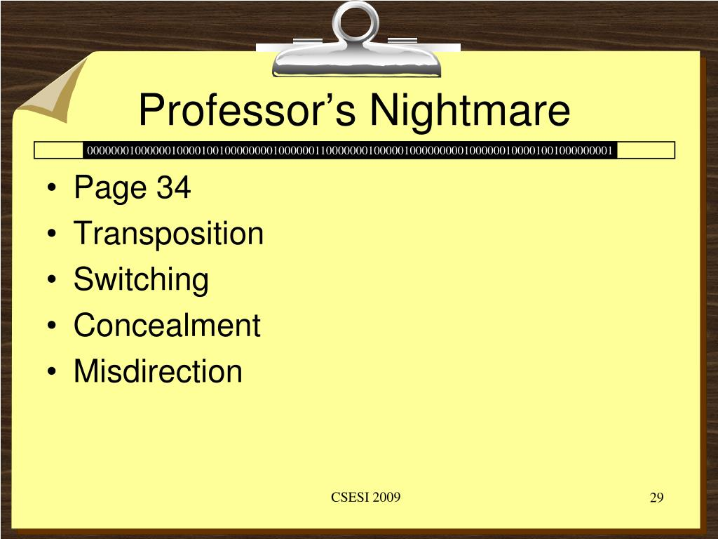 Professor's Nightmare
