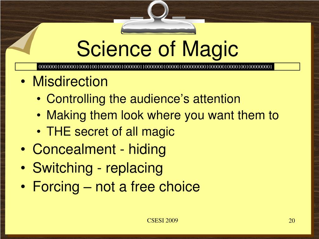 Science of Magic