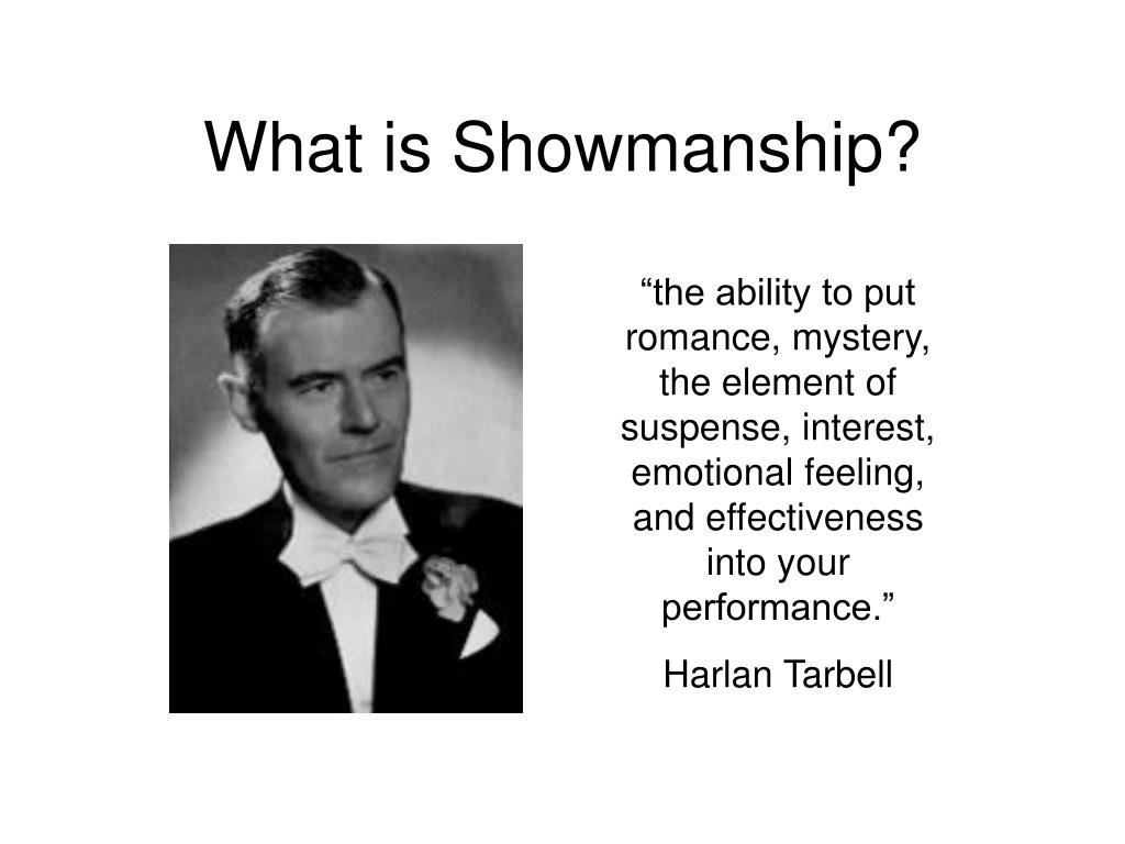 What is Showmanship?