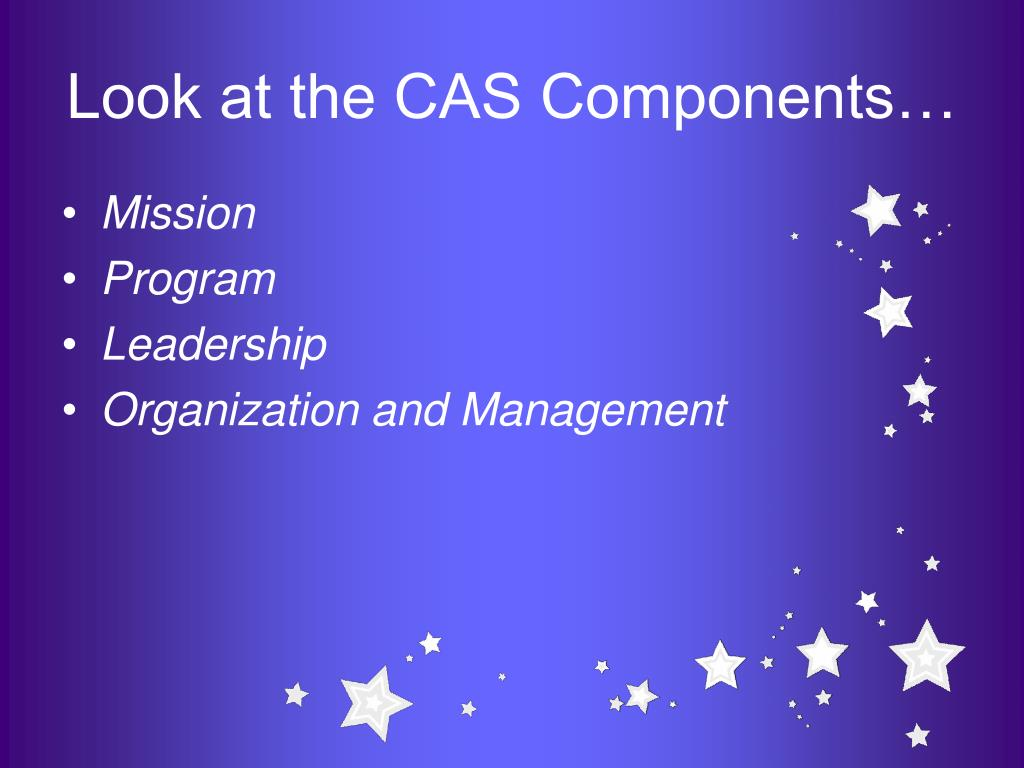Look at the CAS Components…