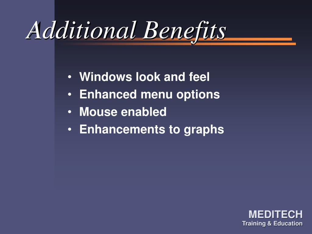 Additional Benefits