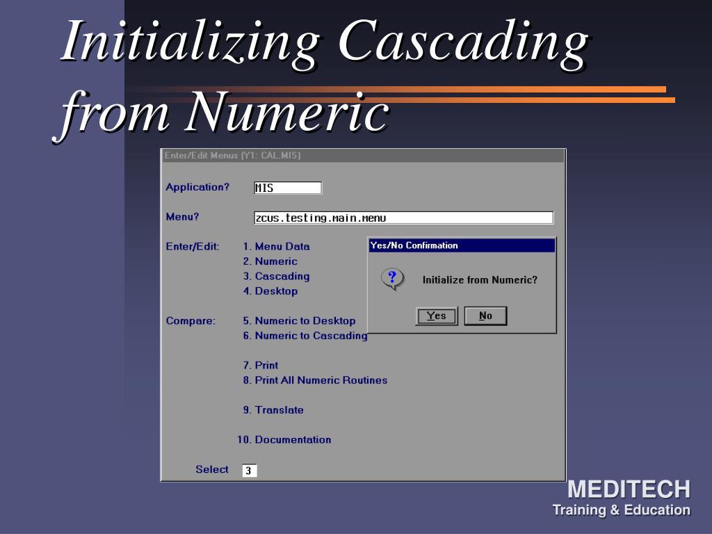 Initializing Cascading from Numeric