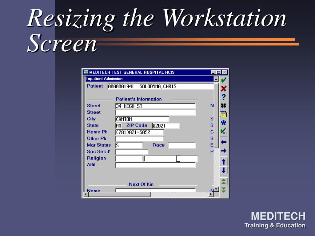 Resizing the Workstation Screen