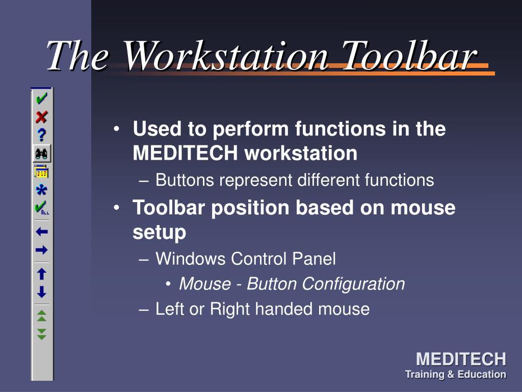 The Workstation Toolbar