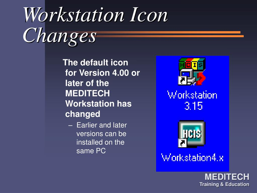 Workstation Icon Changes
