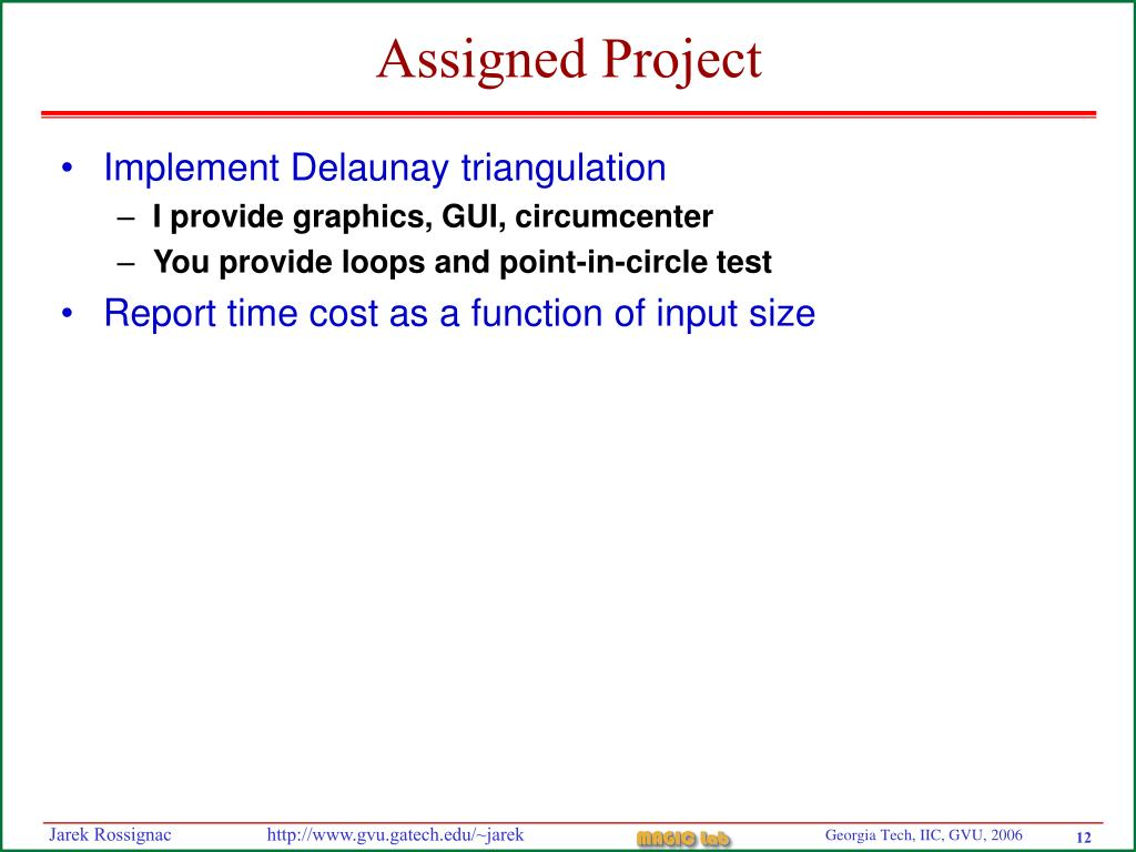 Assigned Project