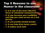 top 5 reasons to use humor in the classroom