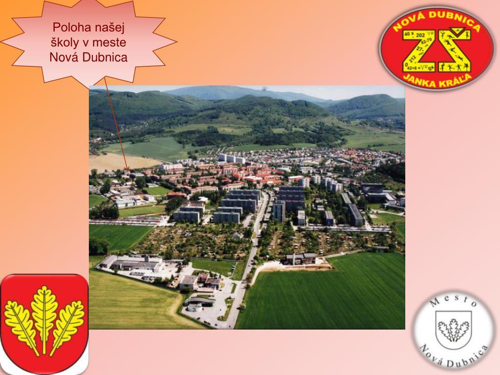 Poloha našej školy v meste Nová Dubnica
