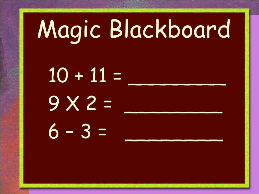 Magic Blackboard
