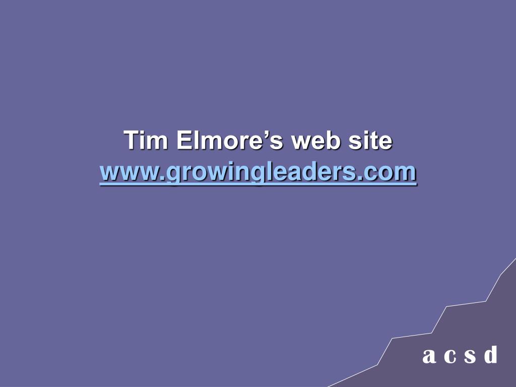 Tim Elmore's web site