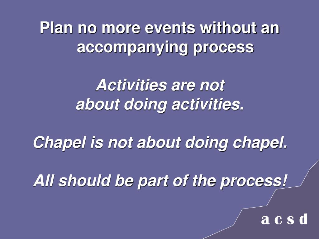 Plan no more events without an accompanying process