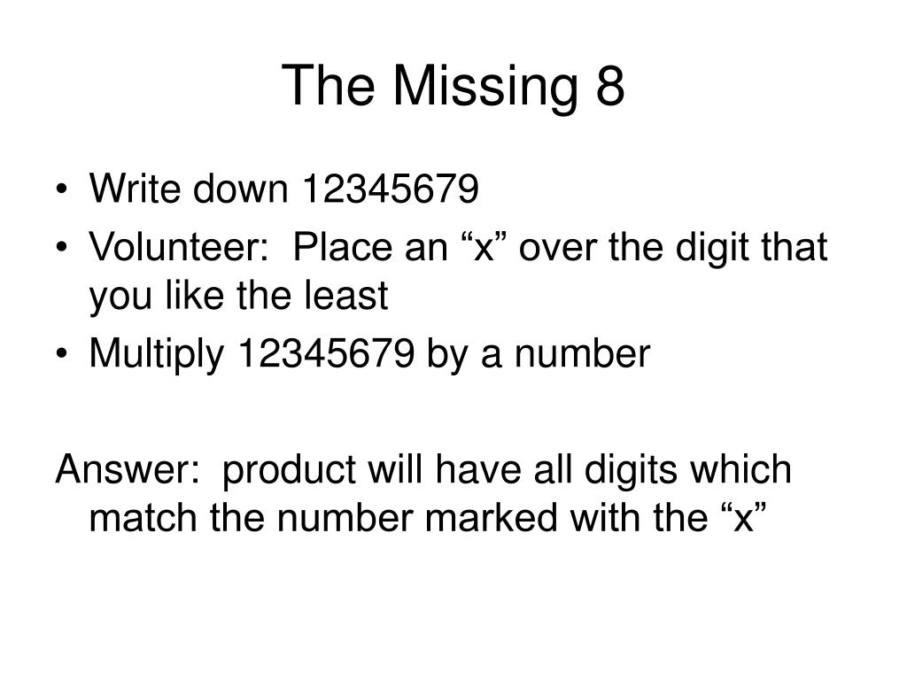 The Missing 8