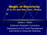 magic of electricity a to z s and one two threes
