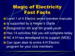 magic of electricity fast facts
