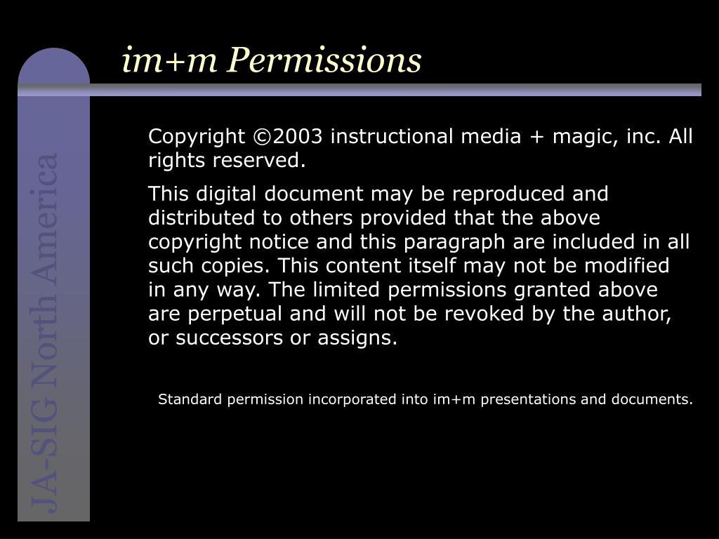 im+m Permissions