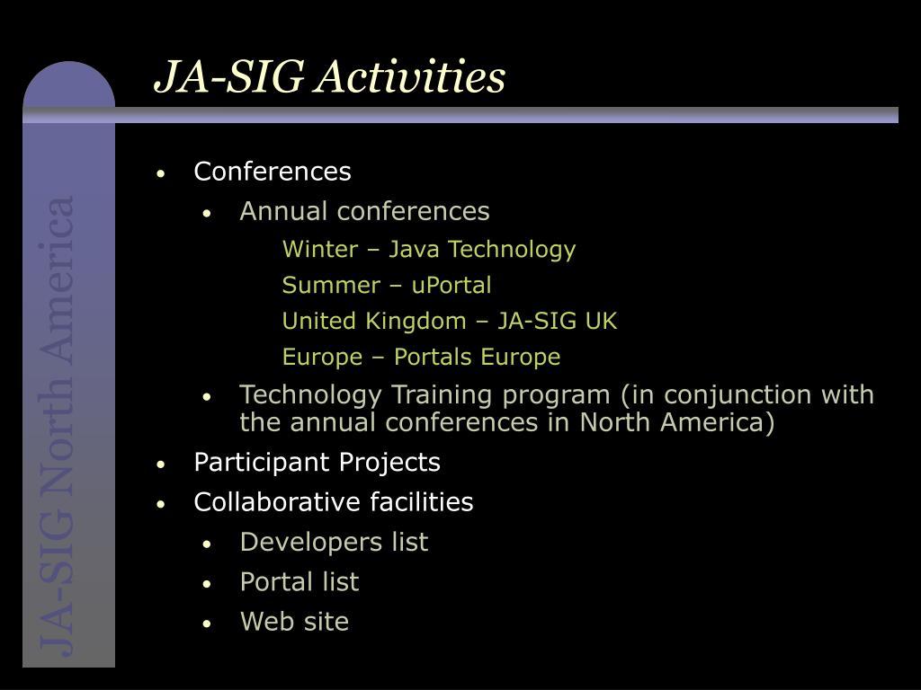 JA-SIG Activities