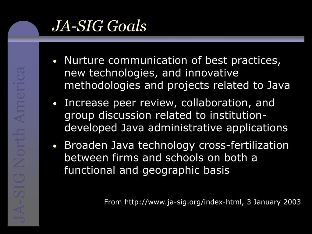 JA-SIG Goals