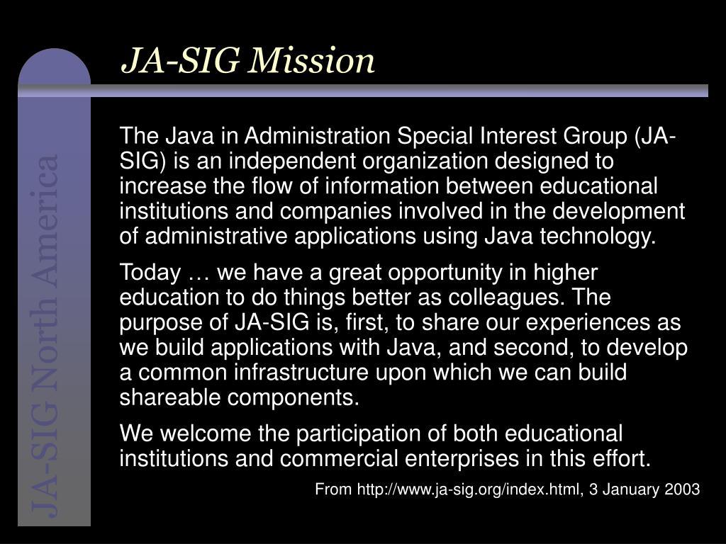 JA-SIG Mission