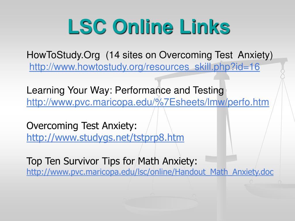 LSC Online Links