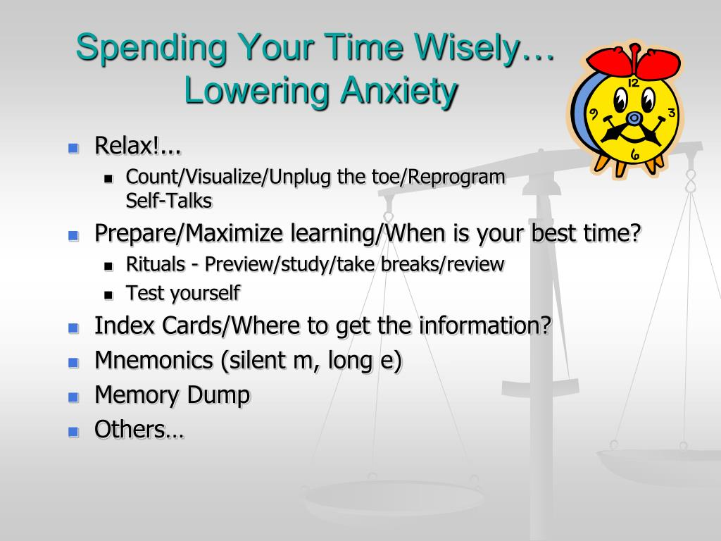 Spending Your Time Wisely…