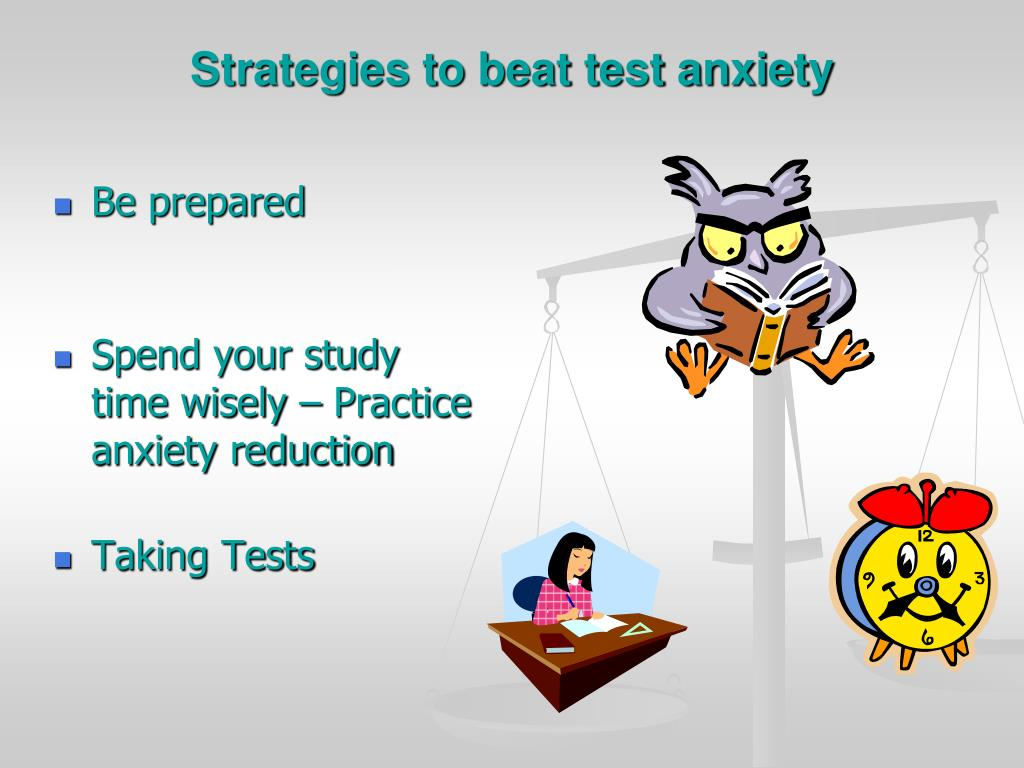 Strategies to beat test anxiety