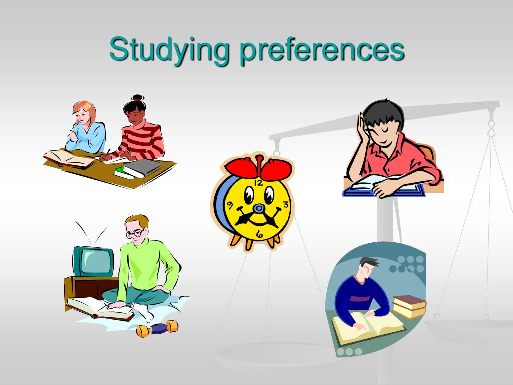 Studying preferences