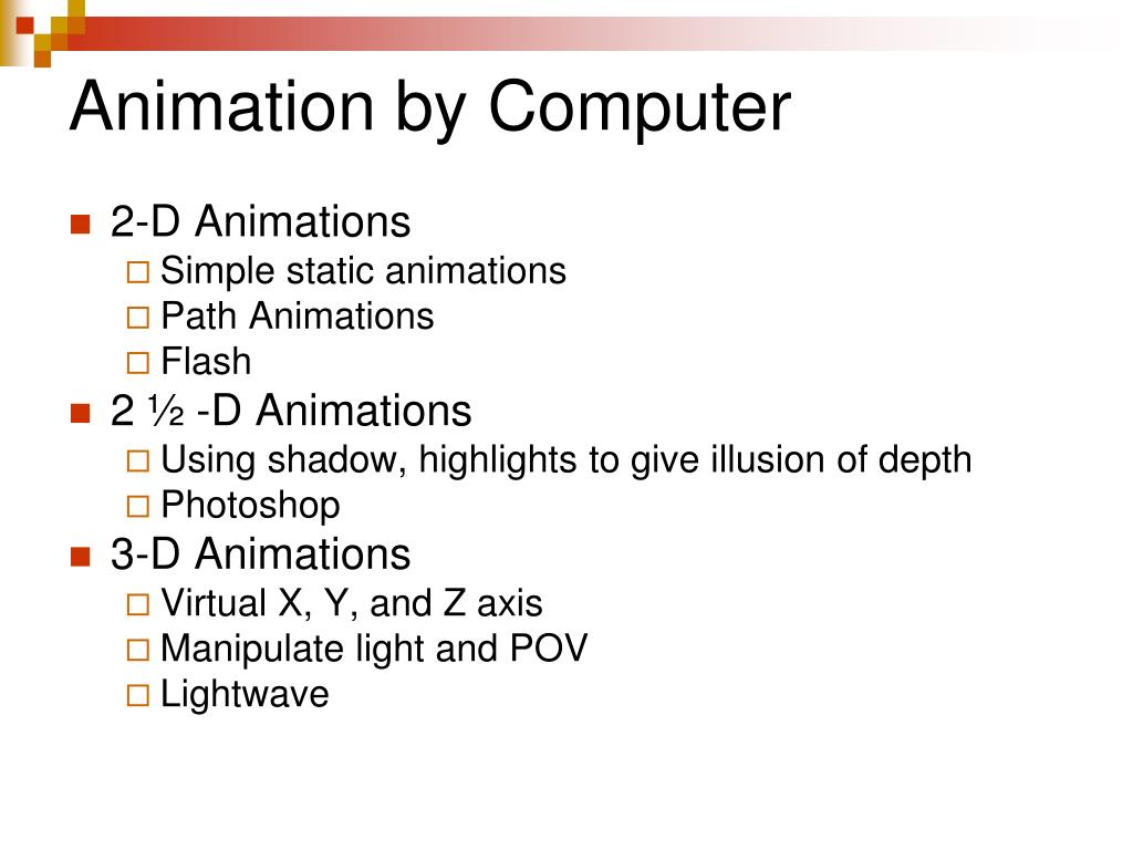 Animation by Computer