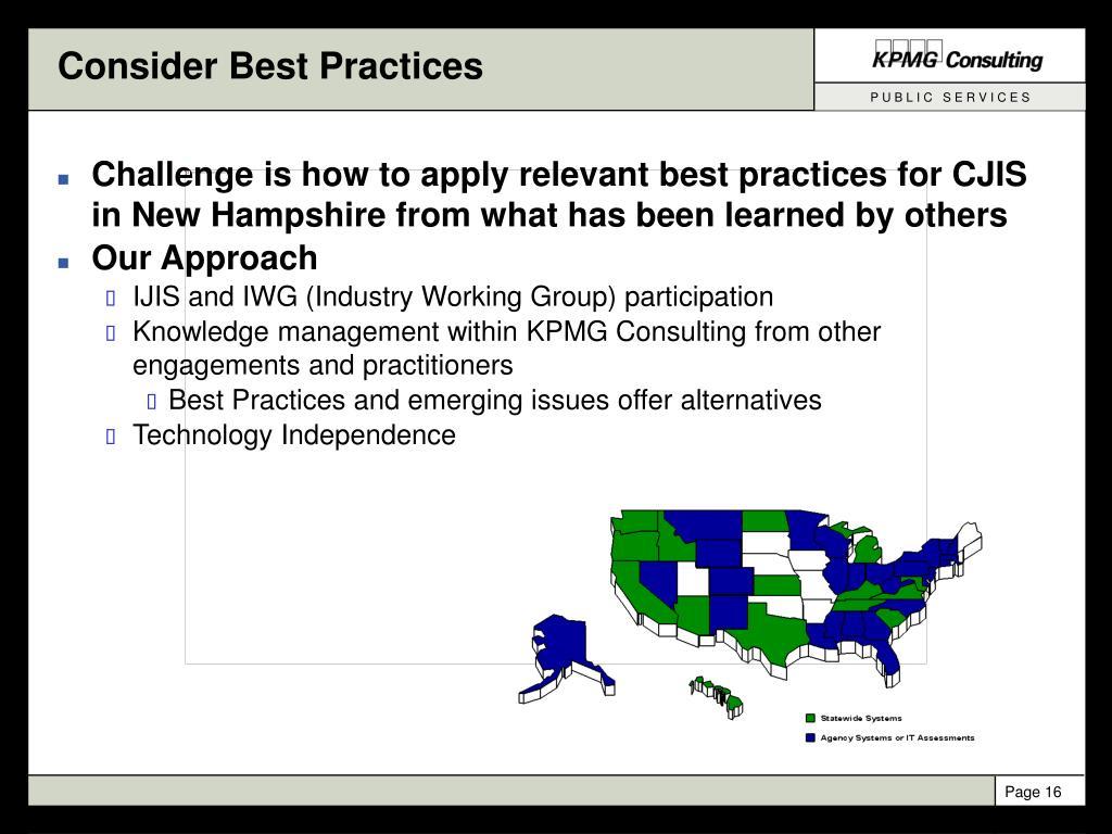 Consider Best Practices